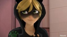 Someone went and did it- photoshopped Chat Noir into the Break Dance AU (Miraculous Ladybug)