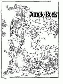 Free jungle book party ideas creative printables all for Jungle book 2 coloring pages
