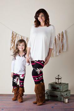 Mommy Fuchsia Arrow Legging - Ryleigh Rue Clothing by MVB