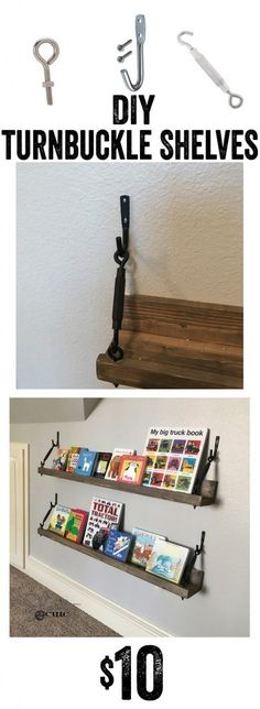 LOVE these shelves! So cute and simple to build! Links to all the hardware needed are in the directions and there is a how-to video! www.shanty-2-chic.com