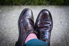 Florsheim Royal Imperial shell cordovan long-wings ... well worn and wonderful
