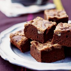 Mexican Chocolate Streusel Brownies