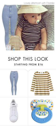 """Lovely afternoon with Freddie"" by mmbrambilla ❤ liked on Polyvore featuring Topshop, Toast and adidas"