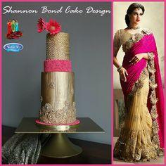 "Elegant Indian Fashion Cake ""Aurum"" / Shannon Bond Cake Design / www.sbcakedesign.com"