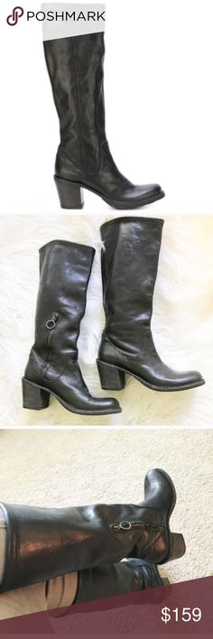 VERTIGO Paris Boots heels Black Leather Lined leather T 39 VERY GOOD CONDITION
