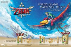 Doppelseitige Anzeige zu Zelda Skyward Sword + Sonderfarbe Gold