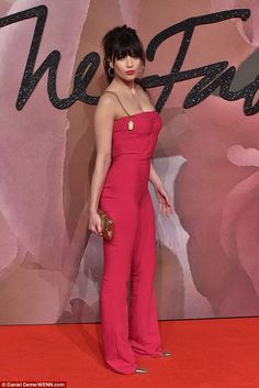 Pretty in pink! Daisy Lowe, 27, took centre-stage at theBritish Fashion Awards in London's Royal Albert Hall on Monday night