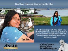 Piya Bose, Owner of Girls on the Go Club #Entrepreneur #Entrepreneurs…