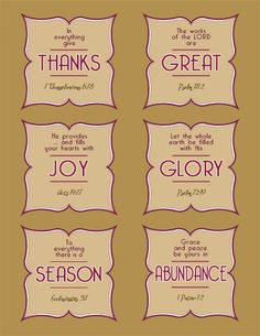 Inspiring Ideas with artist Jeanne Winters: Fall Scripture Cards - FREE Printable!