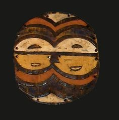 CONGO TEKE MASK    COUNTRY: CONGO  ETHNIC GROUP: TEKE  MATERIALS: WOOD, PIGMENT  HEIGHT: 13 in.