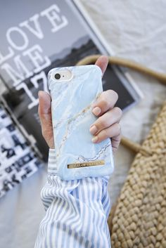 Island Paradise Marble by lovely @emmamelins - Fashion case phone cases iphone inspiration iDeal of Sweden #marble #blue #gold #fashion #inspo #iphone #marmor