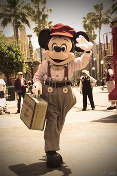 A Suitcase and a Dream One Year Later - I LOVE red car news boys!!!!!! With Mickey of course! (:
