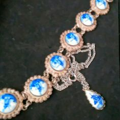 Delft bracelet & necklace This is Delft bracelet and necklace made in the forties in good condition Jewelry Bracelets