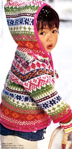 Fair isle hoodie from Baby Gap 2008 Collection.