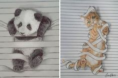 I Draw Animals That Don't Want To Stay Between The Lines
