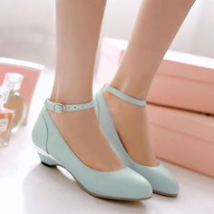 Womens Mary Janes Ankle Strap Pointy Toe Low Heel Round Toe Shoes Summer Office in Clothing, Shoes & Accessories, Women's Shoes, Flats & Oxfords Strappy Shoes, Low Heel Shoes, Ankle Strap Heels, Ankle Straps, Pump Shoes, Women's Shoes, Small Heel Shoes, Sandal Heels, High Heels