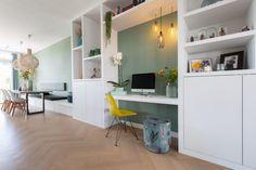 Living Room Kitchen, Home Living Room, Living Room Tv Unit Designs, Interior Design Inspiration, Dining Area, Sweet Home, New Homes, House, Furniture