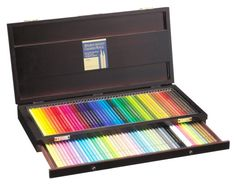 Value Set Holbein Artist Colored Pencil 150 Full Color Set For Professional Wooden box + Holbein Melz Blender Pen + Expedited Shipping  [Features of