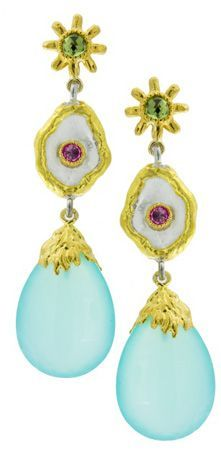 Victor Velyan 24k Gold Earrings