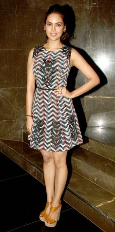 Esha Gupta at the special screening of 'Baby'. #Bollywood #Fashion #Style #Beauty