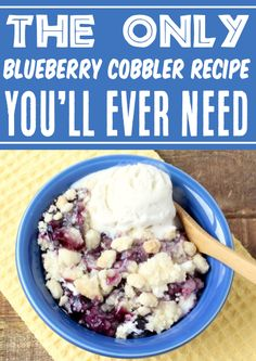 Blueberry Cobbler Recipes! Cheesecake desserts are always fun, but when you combine them with sweet blueberries and a decadent butter crumble topping, you've got a winner! Then, when you top it with some whip cream or vanilla ice cream, it becomes simply irresistible! Go grab the recipe and give it a try this week! Easy Summer Desserts, Easy Summer Meals, Summer Dessert Recipes, Dessert Cake Recipes, Fruit Recipes, Fun Desserts, Fall Recipes, Delicious Desserts, Cooking Recipes