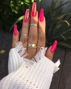73 Most Eye-Catching Different Color Coffin Nails for Prom and Wedding - Diaror Diary - Page 22 ♥ 𝕴𝖋 𝖀 𝕷𝖎𝖐𝖊, 𝕱𝖔𝖑𝖑𝖔𝖜 𝖀𝖘!♥ ♥ ♡*♥ ♥ ♥ ♥ ♥ ♥ ♥ ♥ ♥ ♥ ♥ ღ♥Hope you like this collection about coffin nails! Cute Acrylic Nails, Acrylic Nail Designs, Glitter Nails, Pink Stiletto Nails, Hot Pink Nails, Bling Nails, Acrylic Art, Hair And Nails, My Nails