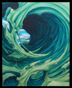 Bio-organic oil painting by Jorge A gWooKi, via Flickr