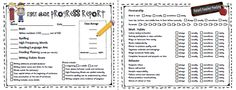 Great parent- teacher conference forms. I really like this idea as a quick reference for parents and a guideline for us as.well.