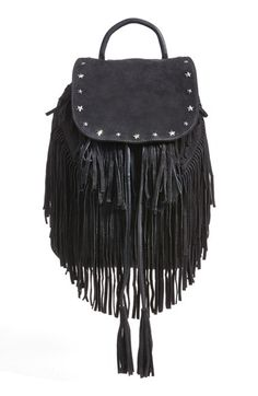 Maison+Scotch+Fringed+Suede+Backpack+available+at+#Nordstrom