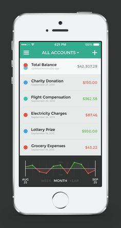 Banking app — Menu & Transactions / Jona