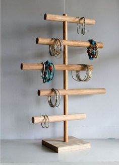 Large Bracelet Holder Asymmetrical Jewelry Organizer Jewelry Display Stand Craft Show Retail Rack Mens Watch Holder Headband Holder Jewellery Storage, Jewellery Display, Jewelry Organization, Organization Ideas, Jewellery Boxes, Storage Ideas, Bracelet Holders, Jewelry Holder, Jewelry Rack