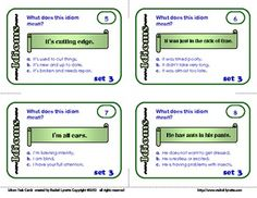 Idioms Task Cards: 32 Multiple Choice Cards for CCS L.4.5 and L.5.5.  $2.75