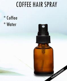 DIY Coffee shampoo and Coffee hair spray soft, shiny hair