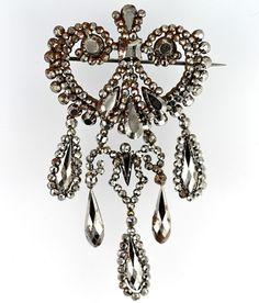 Antique Victorian Cut Steel Scared Heart Dangling Tear Drop Brooch Pin – Yourgreatfinds