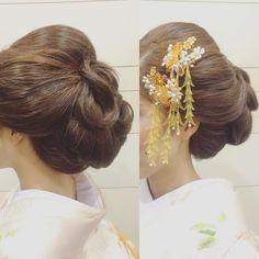 @kotonayamariのInstagram写真をチェック • いいね!130件 Wedding Kimono, Japanese Wedding, Hair Arrange, Love Hair, Kimono Fashion, Hair Designs, Wedding Tips, Silk Flowers, Hairdresser