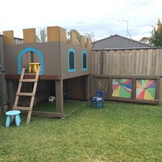How to build a cubby house with your kids.