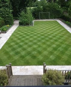 Striped lawn~ Mowing on Diagonal makes a huge difference!