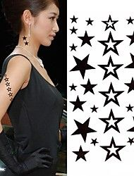 1pc mode ster tattoo stickers tijdelijke tatoeages