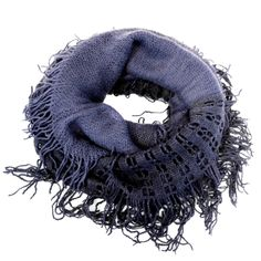 Navy Ombre Knit Infinity Scarf