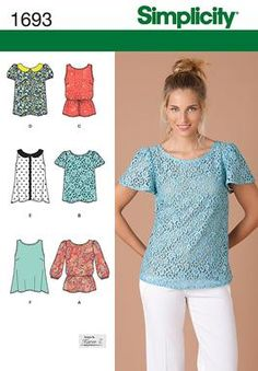 Simplicity sewing pattern #1693 - Misses' Tops