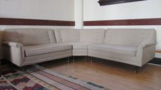 Mid Century Kroehler Sectional // Reupholstered by RemnantPDX