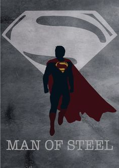 Superman Man of Steel movie Poster Print A3 by MixPosters on Etsy,