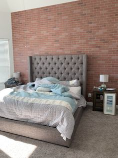 Faux Brick Panels, Brick Paneling, Brick Wall, Bed, Furniture, Home Decor, Decoration Home, Stream Bed, Room Decor
