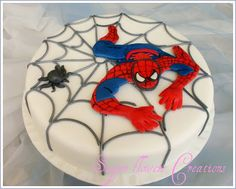 Sugar flowers Creations-Nicky Lamprinou: Τούρτα γενεθλίων Spiderman