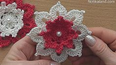 Crochet flower Tutorial #crochet #crochetflower #ravelry NotikaLand crochet and knitting - YouTube