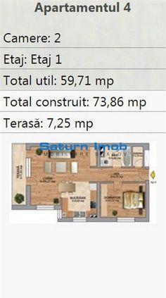 Vanzare apartament 2 camere zona Tractorul , Brasov