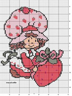 Strawberry Shortcake Cross Stitch Patterns | Found on artesanias.name