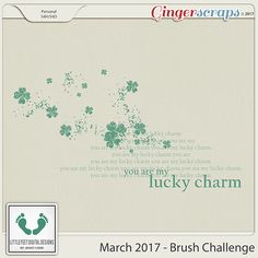GingerScraps is a fun and welcoming Digital Scrapbooking community. Saint Patrick, It's Now Or Never, Lucky Charm, Digital Scrapbooking, Creations, March, Challenges, Fun, Four Leaf Clover