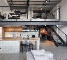 Industrial Kitchen Design, Industrial Interiors, Industrial House, Industrial Style, Industrial Furniture, Industrial Bookshelf, Industrial Apartment, Unique Furniture, Rustic Furniture