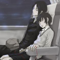 OMG this is one of the cutest pairings ever!!! I need to watch this anime again >.< Nabari no ou yoite X Miharu